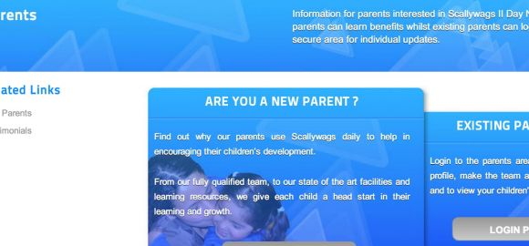Website launch for daycare nursery