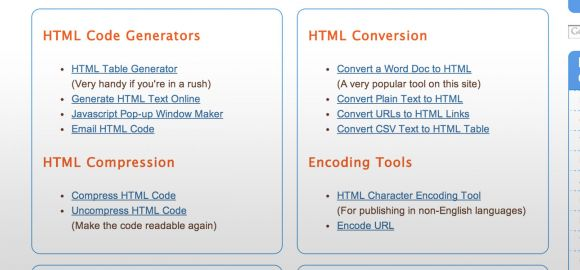 Useful Online HTML Tools